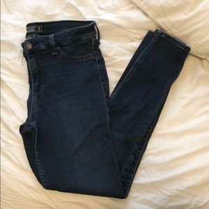 Abercrombie and Fitch Dark Wash Jeggings (8)